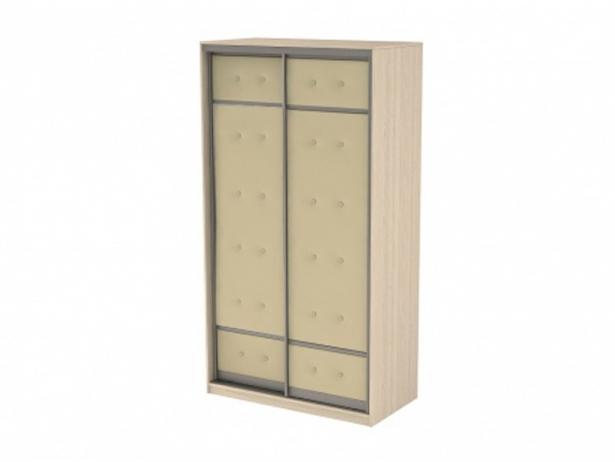 Купить шкаф-купе 2-х дверный Неро/Сезия