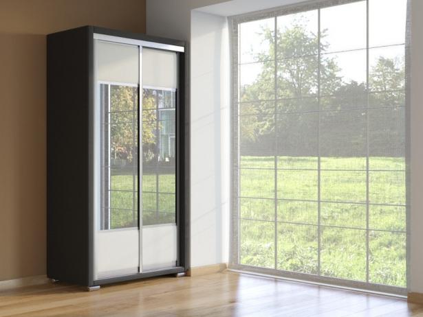 Шкаф-купе 2-х дверный Orma Soft черно-белый