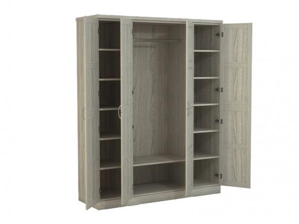 Купить шкаф распашной 4-х створчатый Варна беленый дуб