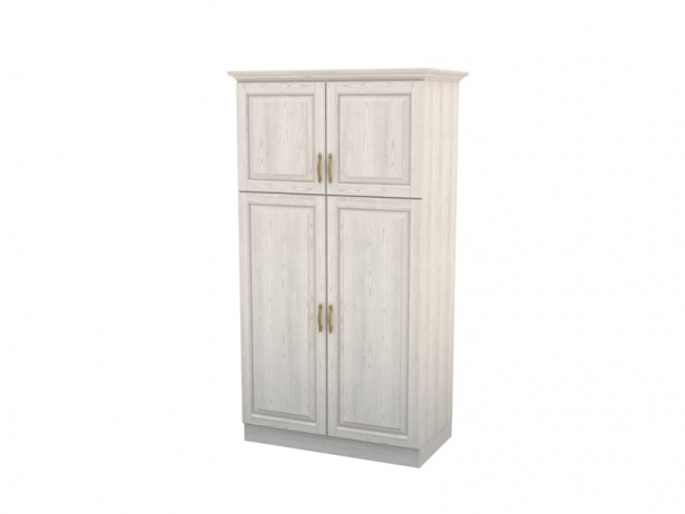 Купить шкаф из массива распашной 2-х створчатый Эдем с ящиками беленый дуб