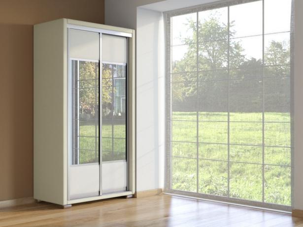 Шкаф-купе 2-х дверный Orma Soft  крем-белый