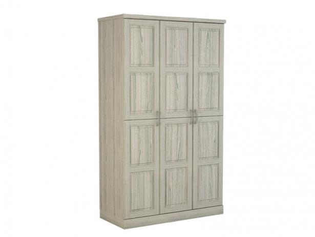 Беленый шкаф распашной 3-х створчатый Варна беленый дуб