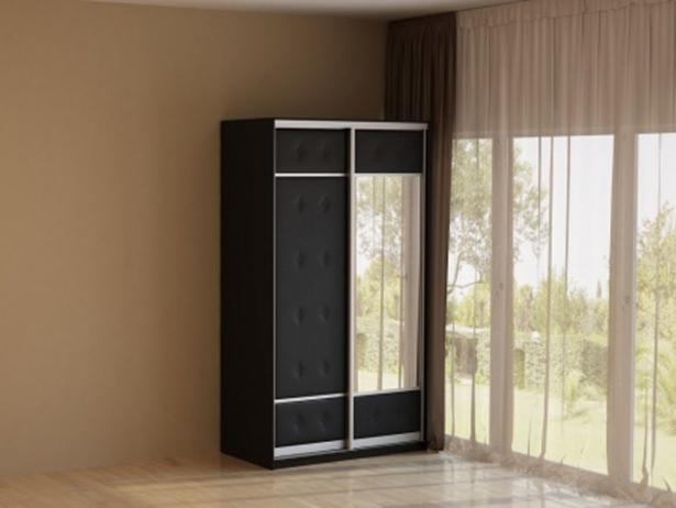 Шкаф-купе 2-х дверный Неро/Сезия черный