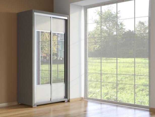 Шкаф-купе 2-х дверный Orma Soft  серый-белый