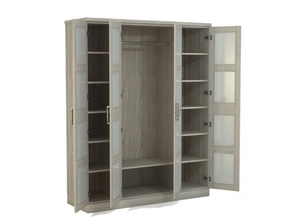 Шкаф распашной 4-х створчатый Парма беленый дуб