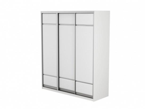 Купить шкаф-купе в коже 3-х дверный Como/Veda