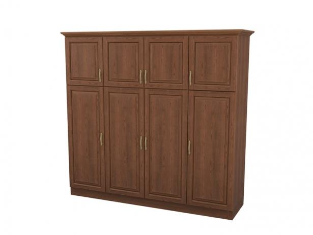 Купить распашной шкаф 4-х створчатый с ящиками Эдем