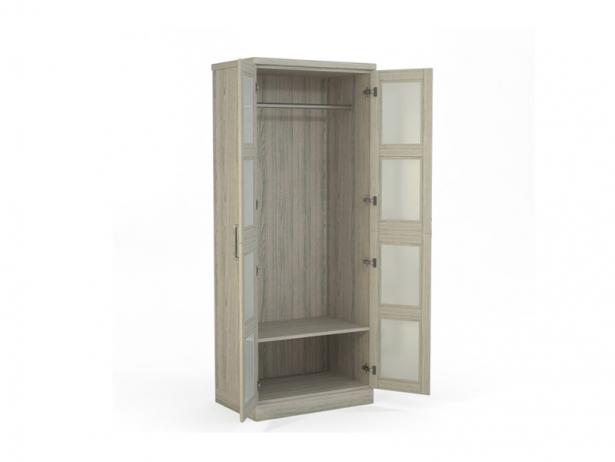 Шкаф распашной 2-х створчатый Парма беленый дуб