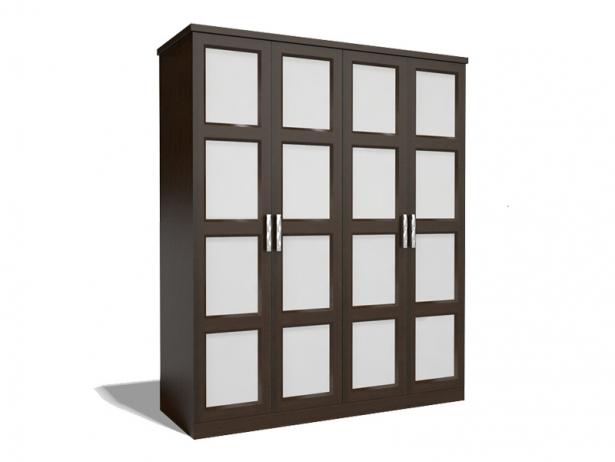Купить шкаф распашной венге 4-х створчатый Парма