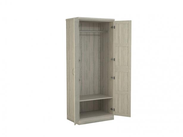 Купить шкаф распашной 2-х створчатый Варна беленый дуб