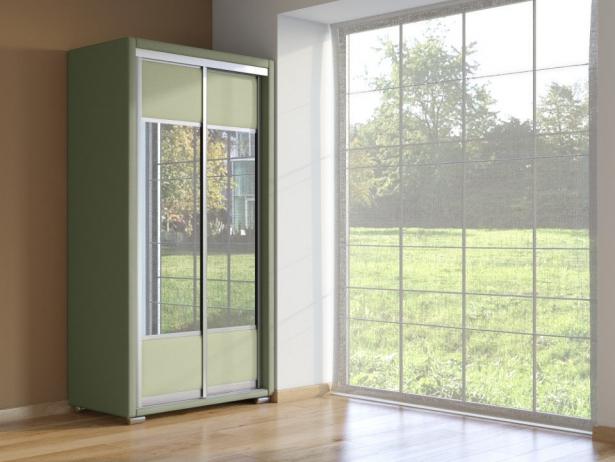 Шкаф-купе 2-х дверный Orma Soft  олива-зеленое яблоко