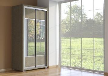 Шкаф-купе 2-х дверный зеркальный Orma Soft Ткань